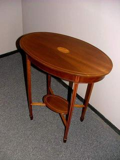 Edwardian mahogany sidetable with inlay