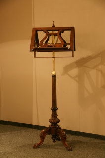 Lovely 19thC mahogany double musicstand. Perfect condition