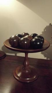 Set of 19thC mini-lawn balls