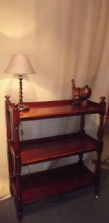 English 19thC mahogany dumb waiter.