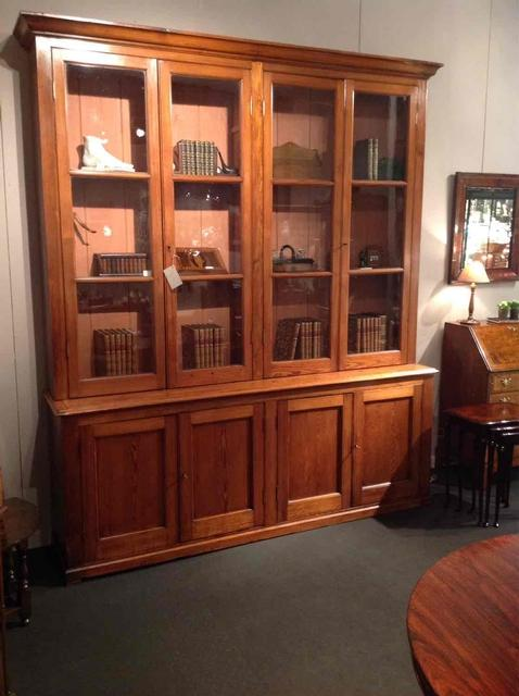 Super 19thC Scottish bookcase in pitch-pine