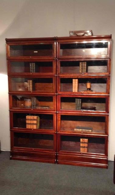 19 th C pair of mahogany Globe Wernicke bookcases