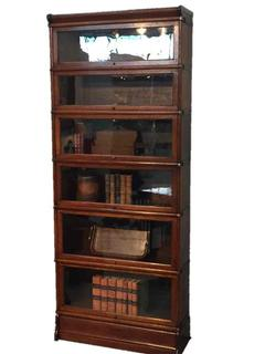 19th C. oak Globe Wernicke bookcase