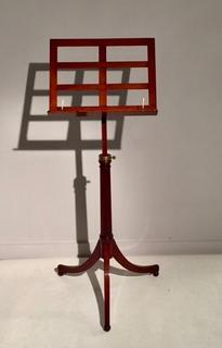 A 19th Century English Mahogany Adjustable Music Stand.