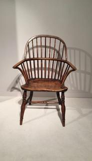 A Georgian Bow Back Windsor Armchair