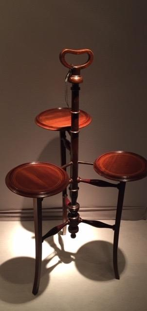 An English Edwardian Mahogany Cakestand