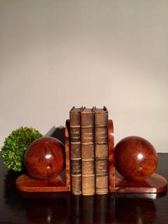 English Elm and Burr Elm Book Stands