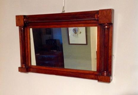 English Mahogany mirror.