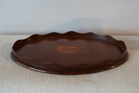 Very nice Small Edwardian Mahogany Tray with Inlay