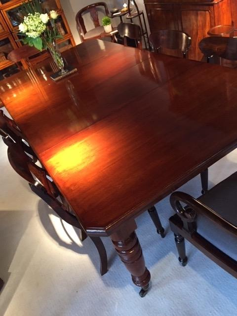 Very Nice Victorian Mahogany Dining Table Having Two Original Leaves Dining Room Items By Category European Antiques Decorative